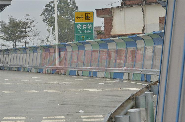 江蘇鎮江橋面頂部弧形隔音屏